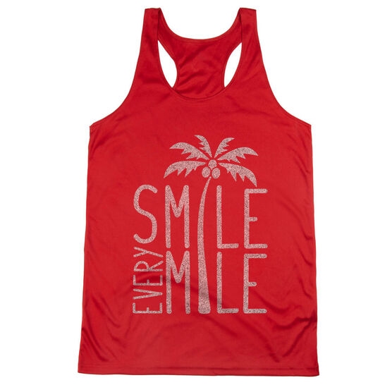 Women's Racerback Performance Tank Top - Smile Every Mile