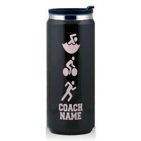 Stainless Steel Travel Mug Tri Coach