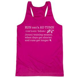 Women's Racerback Performance Tank Top - Runner's Autumn Definition