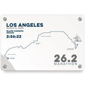 Running Metal Wall Art Panel - Los Angeles 26.2 Route