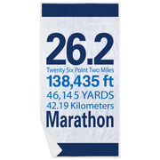 Running Premium Beach Towel - 26.2 Math Miles