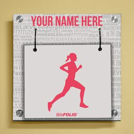 Personalized Running Inspiration - Female Wall BibFOLIO® Display