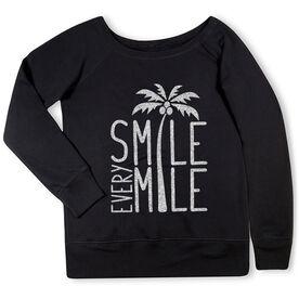 Running Fleece Wide Neck Sweatshirt - Smile Every Mile