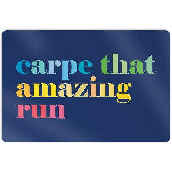 """Running 18"""" X 12"""" Wall Art - Carpe That Amazing Run"""