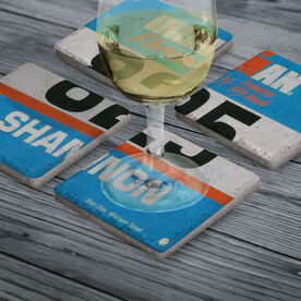 Your Tri Bib on Set of 4 Coasters BibCOASTERS - Stone Coaster