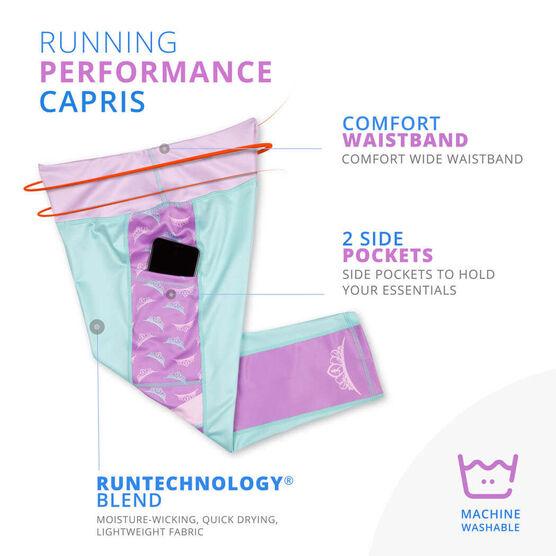 Running Performance Capris - Princess