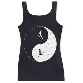Women's Athletic Tank Top - Runner Girl Yin Yang