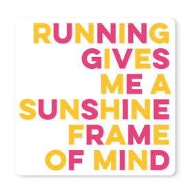 "Running 12"" X 12"" Removable Wall Tile - Sunshine Frame Of Mind"