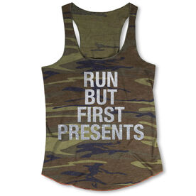 Running Camouflage Racerback Tank Top - Run But First Presents