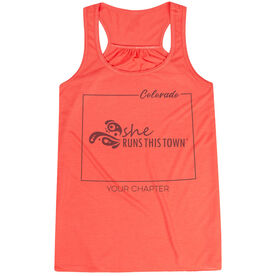 Flowy Racerback Tank Top - She Runs This Town Colorado Runner
