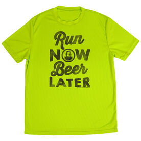 Men's Running Short Sleeve Tech Tee Run Club Run Now Beer Later