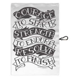 Running Workout/Golf Towel Courage To Start