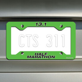 Half Marathon...Running License Plate Holder