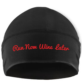 Run Technology Beanie Performance Hat - Run Now Wine Later