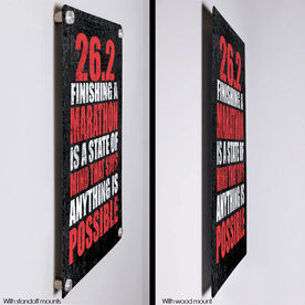 """Running 18"""" X 12"""" Wall Art - 26.2 Anything Is Possible"""