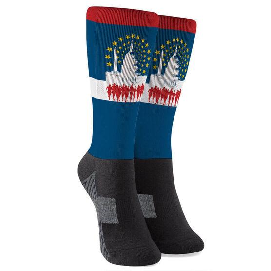 Running Printed Mid-Calf Socks - Run DC