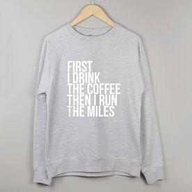 Running Raglan Crew Neck Sweatshirt - Then I Run The Miles