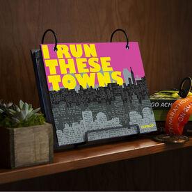 BibFOLIO® Race Bib Album - I Run These Towns (Cityscape)