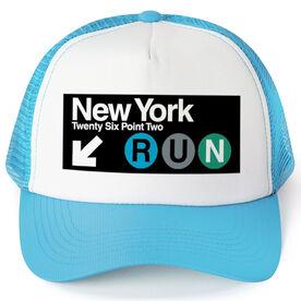 Running Trucker Hat NYC Subway 26.2