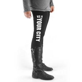 Running High Print Leggings 13.1 Your City