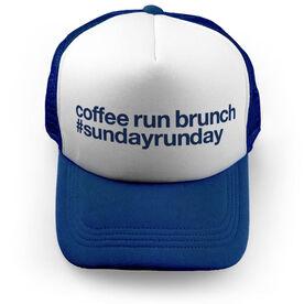 Running Trucker Hat - Coffee Run Brunch