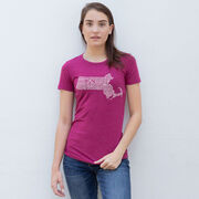 Women's Everyday Runners Tee Massachusetts State Runner