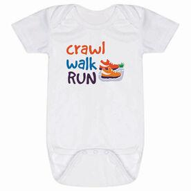 Running Baby One-Piece - Crawl Walk Run