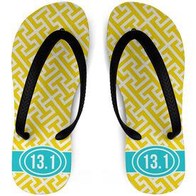 Running Flip Flops Tread Pattern With Ribbon 13.1
