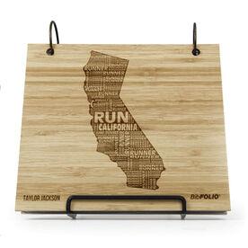 Engraved Bamboo Wood BibFOLIO California State Runner