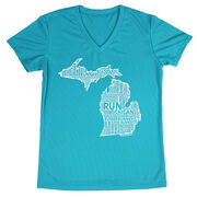 Women's Running Short Sleeve Tech Tee Michigan State Runner