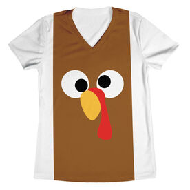 Women's Running Short Sleeve Tech Tee - Goofy Turkey