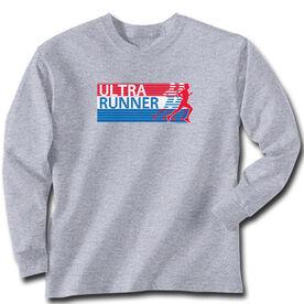 Running Tshirt Long Sleeve Ultra Runner U.S.A.