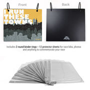 BibFOLIO® Race Bib Album - I Run These Towns (Cityscape)