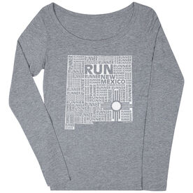 Women's Scoop Neck Long Sleeve Runners Tee New Mexico State Runner