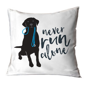 Never Run Alone Throw Pillow