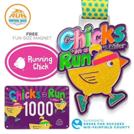 Virtual Race - Chicks On A Run 4 Miler - 2018