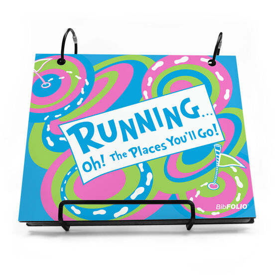BibFOLIO® Race Bib Album - Running Oh The Places You'll Go