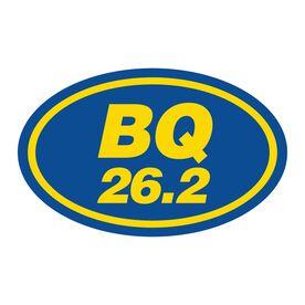 BQ 26.2 Oval Running Vinyl Decal