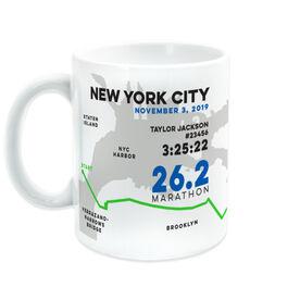 Running Coffee Mug - Personalized New York City Map