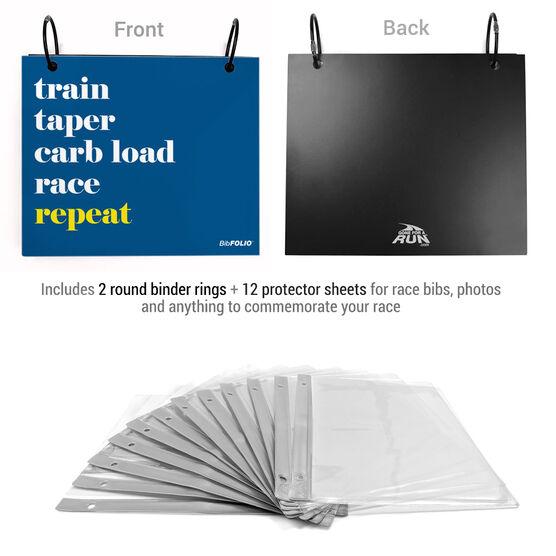 BibFOLIO® Race Bib Album - Repeat Mantra