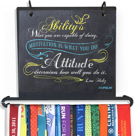 BibFOLIO Plus Race Bib and Medal Display - Ability Is What You Are Capable Of Doing Chalkboard