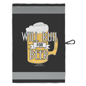 Running Workout/Golf Towel Will Run For Beer
