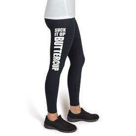 Runner's High Print Leggings Suck It Up Buttercup