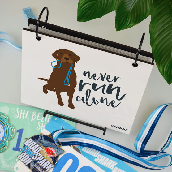 BibFOLIO® Race Bib Album - Never Run Alone