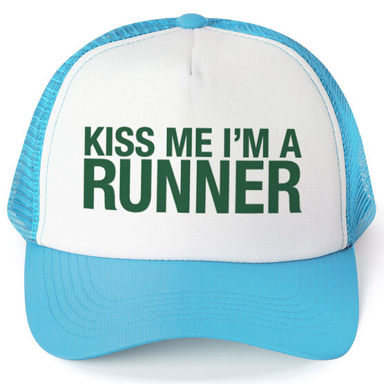 Running Trucker Hat - Kiss Me I'm A Runner