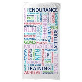 Running Beach Towel - Running Motivation