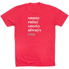 Running Short Sleeve T-Shirt - Run Mantra Weather