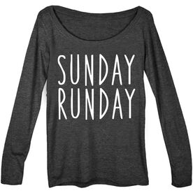 Women's Runner Scoop Neck Long Sleeve Tee - Sunday Runday