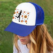 Running Trucker Hat - Candy Corn Female Runner