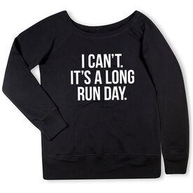 Running Fleece Wide Neck Sweatshirt - Long Run Day